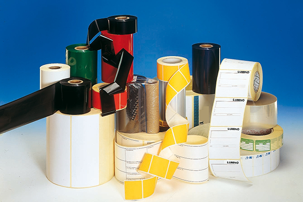 Wax and resin-based ribbons of various sizes and colours.